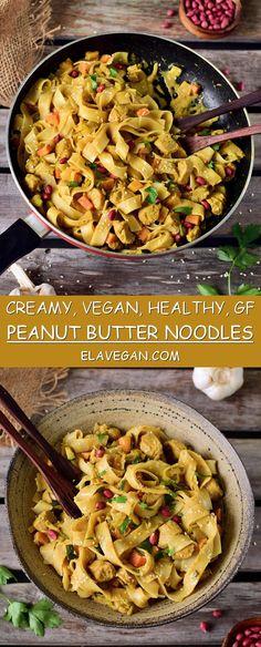 Peanut butter noodles   healthy, vegan, gluten-free recipe - Elavegan