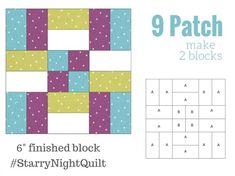Starry Night Block 1   9 Patch - Fairfield World Blog