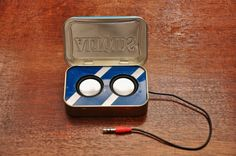 Large Blue Altoids Tin with 2 Speaker Crazy Loud by easyfastgear, $48.00