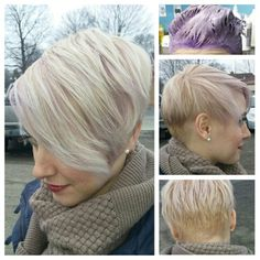 Platinum lavender pixie | courtesy of Tasha Eash - Salon Kimistry, Ypsilanti, MI