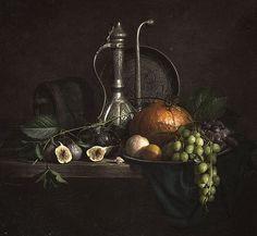 Фотограф Евгений Корниенко (Evgeny Kornienko) - Натюрморт с инжиром и виноградом #1870649. 35PHOTO