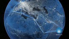 """""""Welcome to the Anthropocene"""" ist ein Kurzfilm, der zeigt, wie sehr die Erde mit Transportnetzen der Menschheit überzogen ist."""