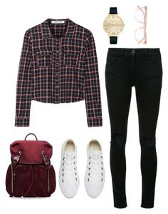 """""""Untitled #1119"""" by shell26 ❤ liked on Polyvore featuring Elizabeth and James, 3x1, Converse, Olivia Burton, Garrett Leight and M Z Wallace"""