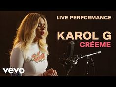 Karol G - Créeme (Official Live Performance) Just after she won the award for 'Best New Artist' at the 2018 Latin Grammys, Karol G accepted our invitation to. Latin Grammys, Music Licensing, New Artists, Music Publishing, Good News, Superstar, Take That, Live, Youtube
