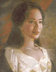 Beautiful portrait of Sally Heming, who was not only the Mother of 6 of Jefferson's children, but ALSO the half sister to Jefferson's white wife! (1773-1835)