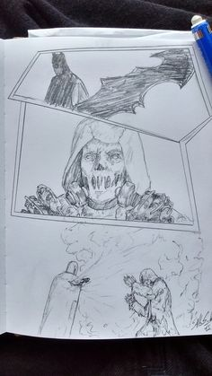Batman and Scarecrow, sketch. #art #dailysketch #batman #scarecrow #comics #fanart #illustration