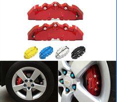 9.48$ (More info here: http://www.daitingtoday.com/4pcs-universal-car-auto-disc-brake-caliper-covers-front-and-rear-rd ) 4pcs Universal Car Auto  Disc Brake Caliper Covers Front And Rear RD for just 9.48$