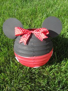Minnie Mouse Inspired Red Paper Lantern Decoration by adingkaki, $14.00