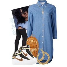 A fashion look from February 2015 featuring high low dresses, knit socks and nike shoes. Browse and shop related looks.