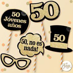 Ideas Aniversario, 50th Birthday Party Decorations, Ideas Para Fiestas, Party In A Box, Photo Booth Props, Mom Birthday, Party Photos, Birthdays, Baby Shower