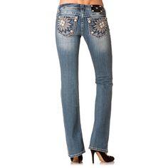 Miss Me Women's Daisy Boot Cut Jeans