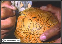 Gourd Carving Instructions | ... intricate designs on a small Peruvian gourd using a wood-burning tool