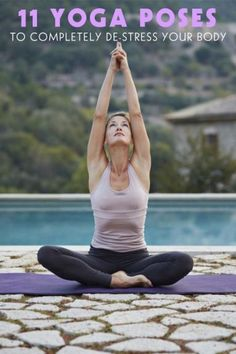 yoga poses to help you de-stress you body. | exercise routine