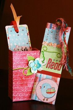 Hybrid Bookmarks with box by Smiley-Scrap8
