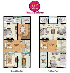 Rainbow Sweet Homes – 120 Sq Yards (Double Storey) Bungalow internal ...