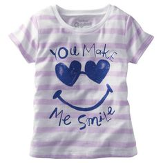 OshKosh Originals Graphic Tee. She's all smiles and stripes in a cute, glittery graphic tee.