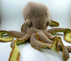 Plush Octopus by Jenny Tiffany, via Behance