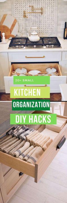 Easy & Clever Kitchen Storage & Organization Hacks Ideas Clever Kitchen Storage, Small Kitchen Organization, Storage Organization, Storage Ideas, Diy Kitchen Decor, Kitchen Hacks, Kitchen Ideas, Simple Diy, Easy Diy