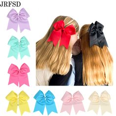 JRFSD 20 Colors Kids Bows Rubber Bands Bow Hair Band Turban Ribbon Hair Accessories Elastic Hair band For Kids H198