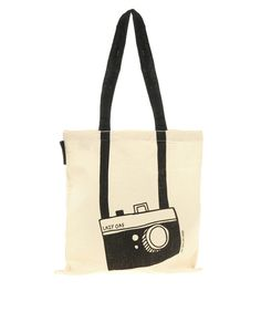 Lazy Oaf Camera Shopper tote bag