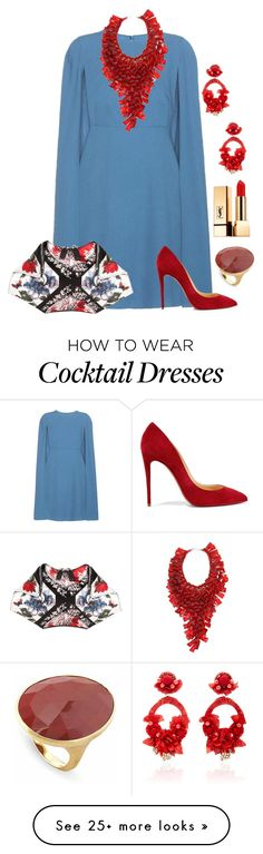 """""""Untitled #1614"""" by beng-gallo on Polyvore featuring Valentino, Alexander McQueen, Christian Louboutin, Ranjana Khan, Yves Saint Laurent and Marco Bicego"""