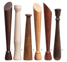 6 Great Wooden Cocktail Muddlers - 1,4, and 5 are great. The angle is great for leverage.