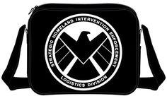 Marvel Captain America Shield Agents Logo Shoulder Messenger Bag