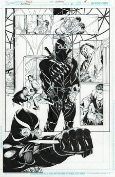 Batman: COURT OF OWLS / Talon First Appearance / Issue 2, Page 14 by Greg Capullo & Jonathan Glapion Comic Art