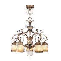Livex Lighting La Bella 5 Light Chandelier in Vintage Gold Leaf 8885-65