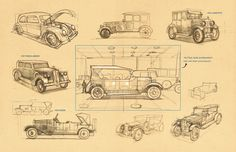 """Check out this @Behance project: """"Car sketches"""" https://www.behance.net/gallery/44232233/Car-sketches"""