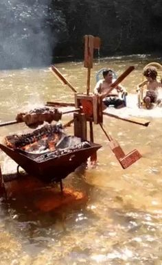 "southernsideofme: ""By the power of the four elements, air, water, fire and nature. I shall grill my meat. """