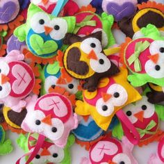 Cute Felt Owl Ornaments/Gift Tags.