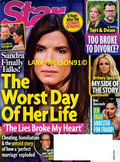 Star Magazine, My Side, Real Housewives, Sandra Bullock, For Stars, Betrayal, Britney Spears, Cheating, Divorce
