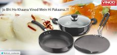 Rasmalai or Jalebi cook all your delicious dessert only Vinod's hard anodized - 3pc Black pearl cookware set designed for exceptional durability and cooking versatility!