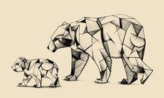 Kubism polar bears - Ferdy Remijn