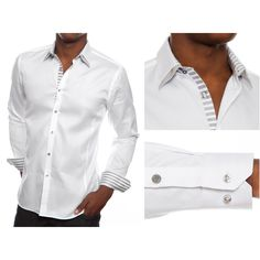 Stone Rose White Cotton Shirts Rossi