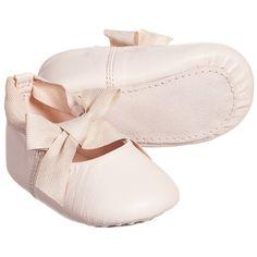 Chloé Pink Leather Pre-Walker Shoes at Childrensalon.com