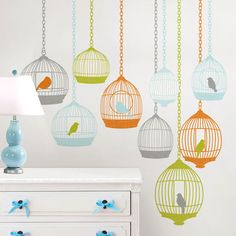 Bird Cages Wall Decals.