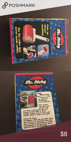 Mr.Sticky This is reusable lint roller, it is washable and when dry. It is usable. This only has one big roller. Other