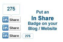 Add LinkedIn Share button to Website / Blog