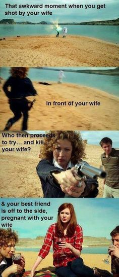 Always an awkward moment.  But that's life with the Doctor and River