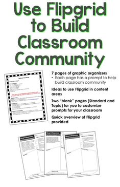Flipgrid Tasks and Activities (9 Community Building Graphic Organizers!) Flipped Classroom, School Classroom, Google Classroom, Classroom Ideas, Teaching Technology, Educational Technology, Instructional Technology, Instructional Strategies, Classroom Community