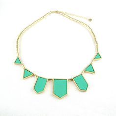holly gold necklace - mint