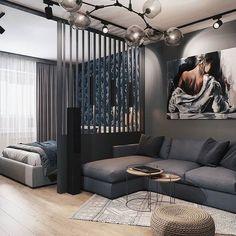 Apartment Interior, Interior Design, Apartment Room, Small Apartment Interior, Home Room Design, Apartment Design, Bedroom Design, Living Room Designs, Studio Apartment Decorating