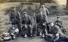 A group of Bavarian infantrymen from the Kgl Bayer 18 Infantry Regiment.