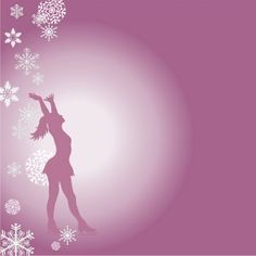 Figure Skating Clip Art Backgrounds | Figure Skating Clipart Image - Beautiful female figure skater, ice ...