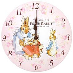 Peter Rabbit clock