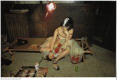 Nan Goldin, Trixie on the coat, New York City, 1979.