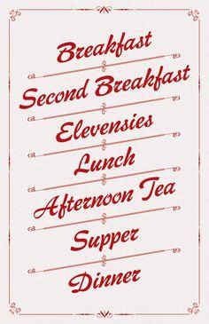 A Hobbit's Daily Meals Art Print