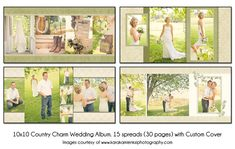 PSD Wedding Album Template  COUNTRY CHARM  by KatieAnnDesigns, $25.00